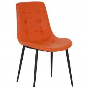 silla-de-comedor-comoda-negra-con-patas-naranja-referencia-gamma