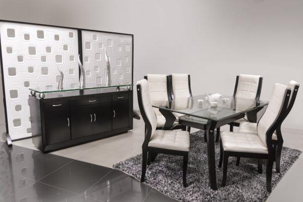 Mesa-comedor-en-madera-oscura-referencia-Cassius- sillas-valery-biffe-forte